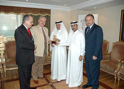 The Qatari Businessmen Association has hosted in its premises a Romanian delegation