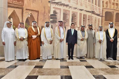 Meeting members of the Qatari Businessmen Association and Mexican President