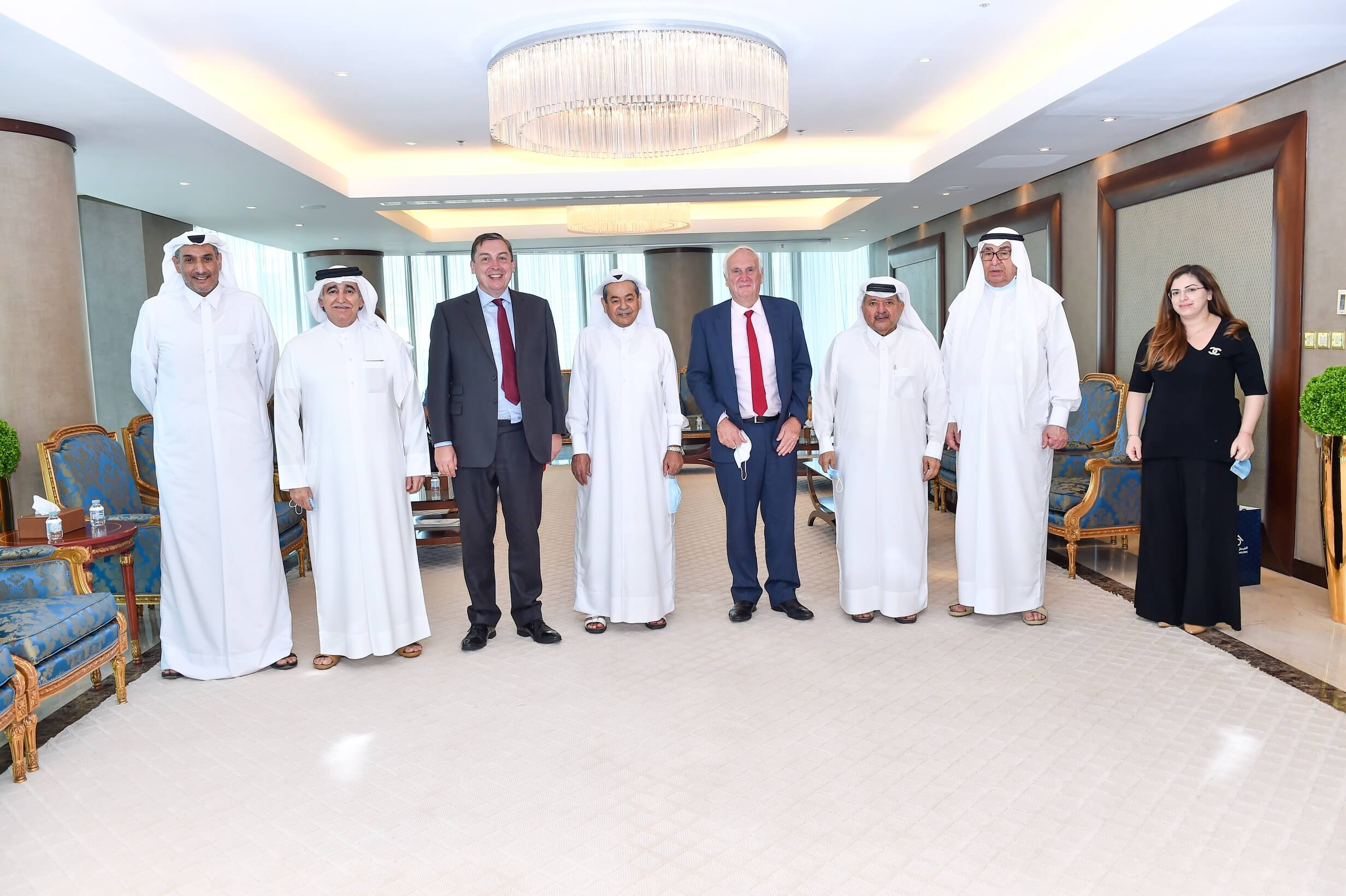 The Qatari Businessmen Association meeting with Sir Edwards Lister, Chief Strategic Advisor to Prime Minister Boris Johnson