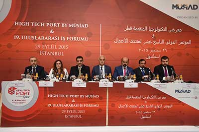 Press Conference in Istanbul to announce the organization of the High Tech port by Musiad Qatar