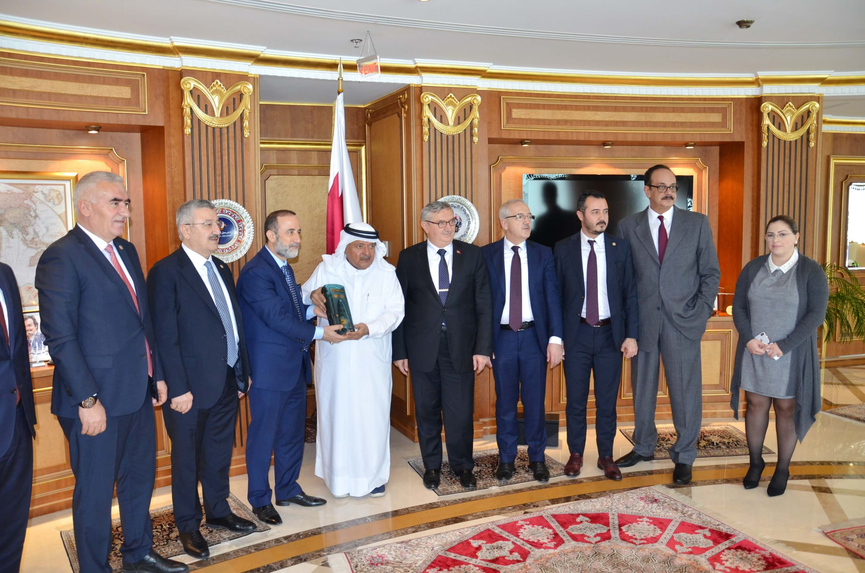 QBA Chairman's meeting with H.E MP Vahit Kiler, chairman of the Turkish-Qatari Parliamentary Friendship Group and his accompanying delegation