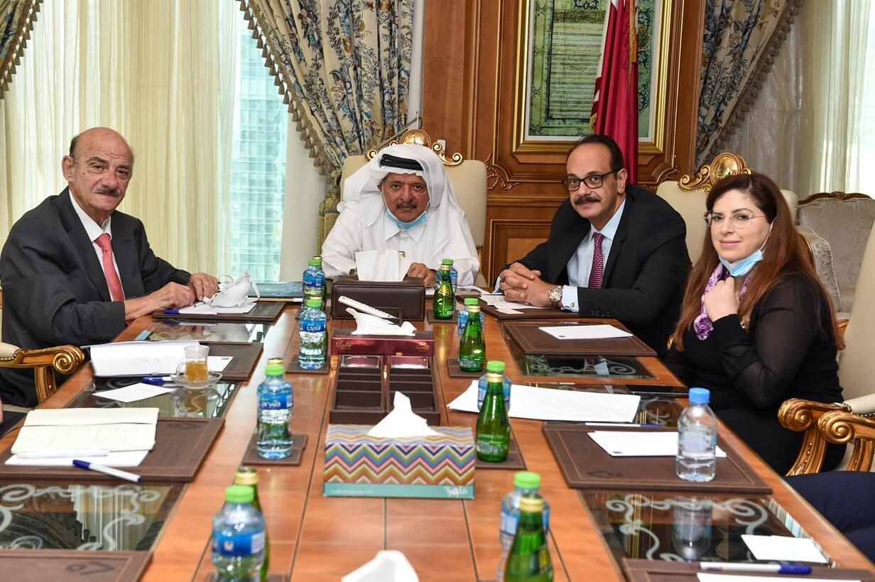 The Qatari Businessmen Association Meeting with H.E. George Hallaq, Presidential Envoy of Guyana President