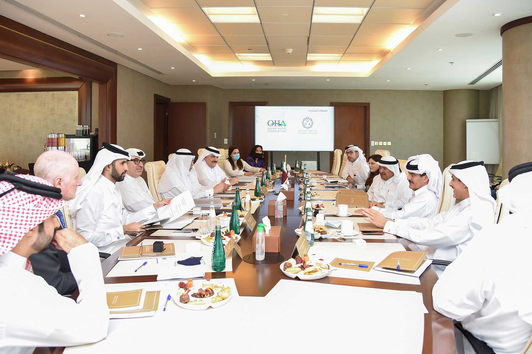 "The launch of ""Qatar Hotels Association"" under the umbrella of QBA, and holding its first inaugural meeting at the headquarters of the Qatari Businessmen Association"