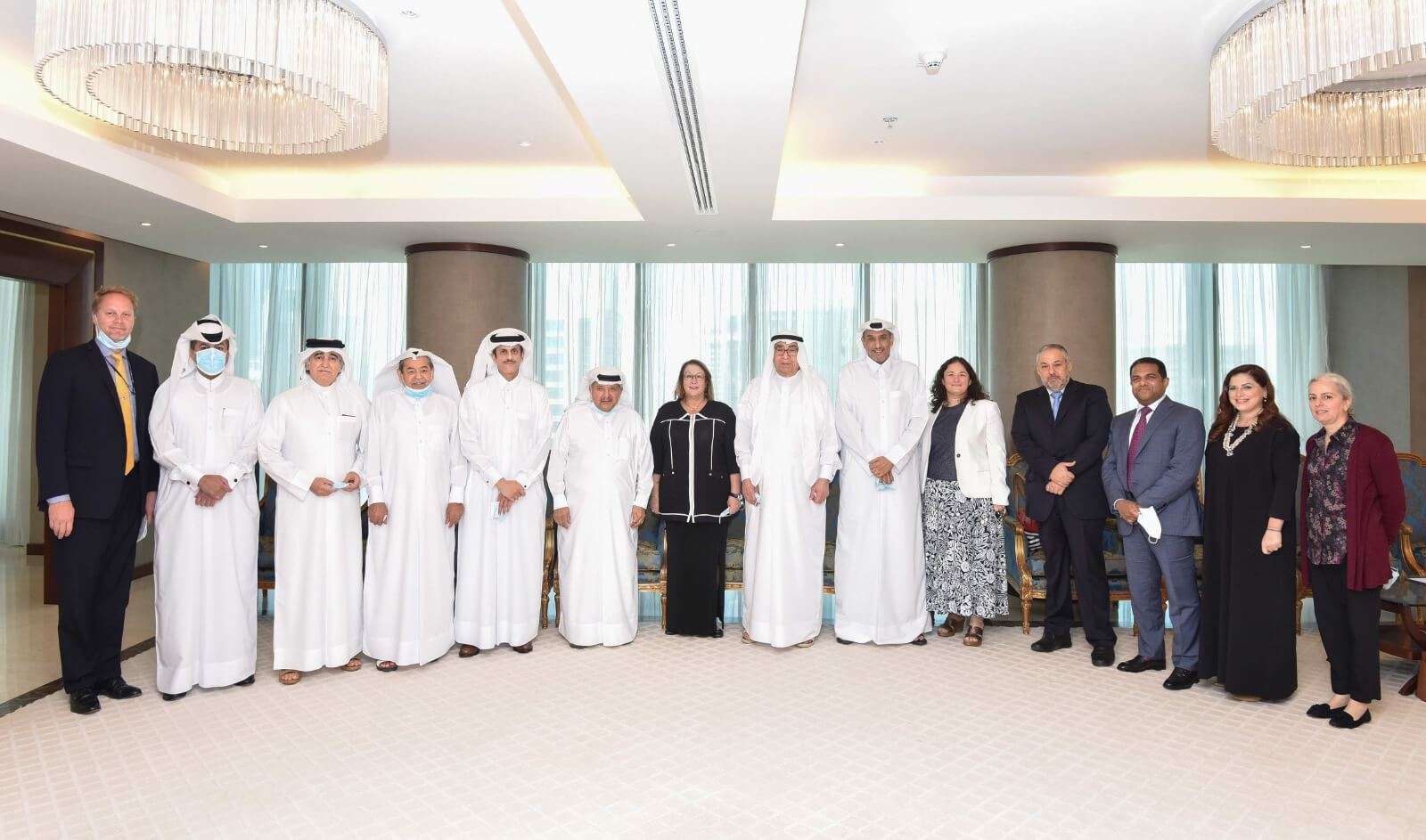 The Qatari Businessmen Association meeting with H.E. Ms. Greta Holtz, Charge' d' Affaires of the US Embassy in Doha