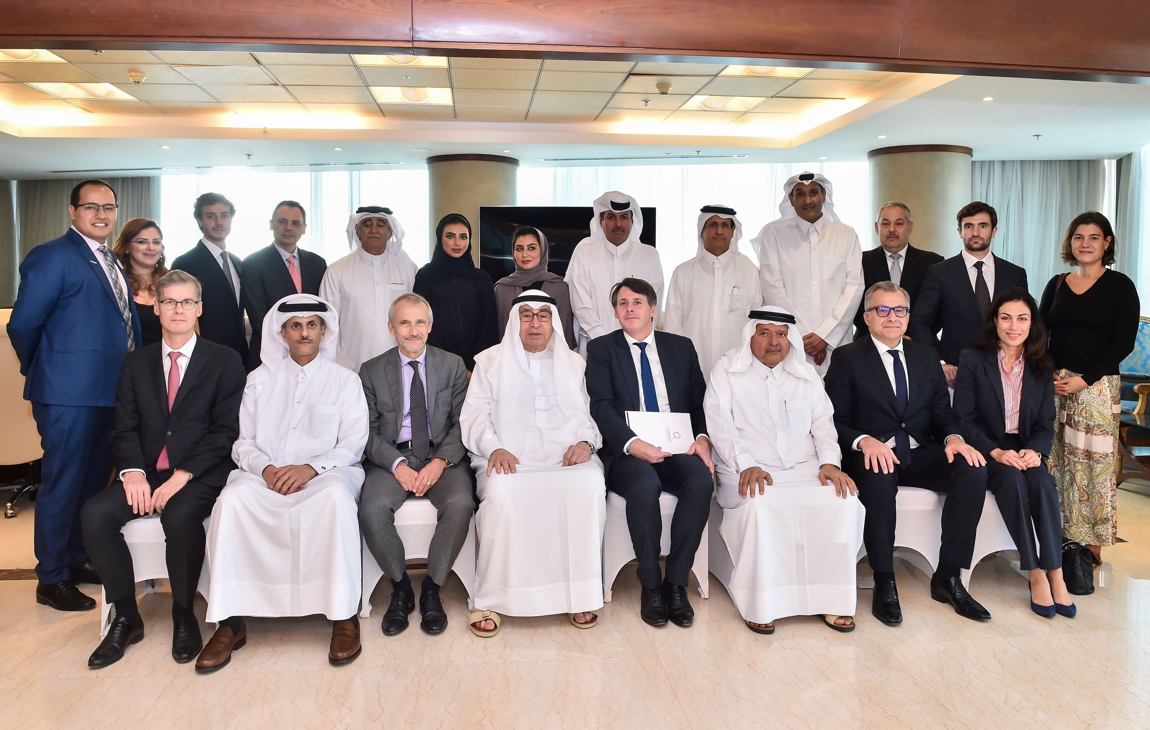 The Qatari Businessmen Association hosted a French delegation from Qadran Association